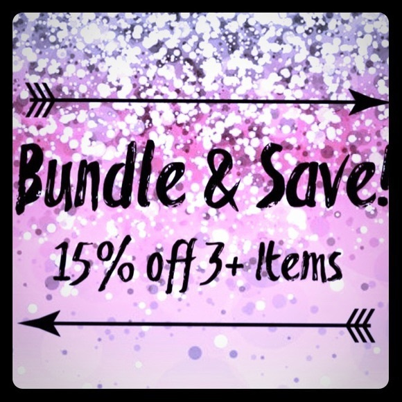 BUNDLE 15% off 3+